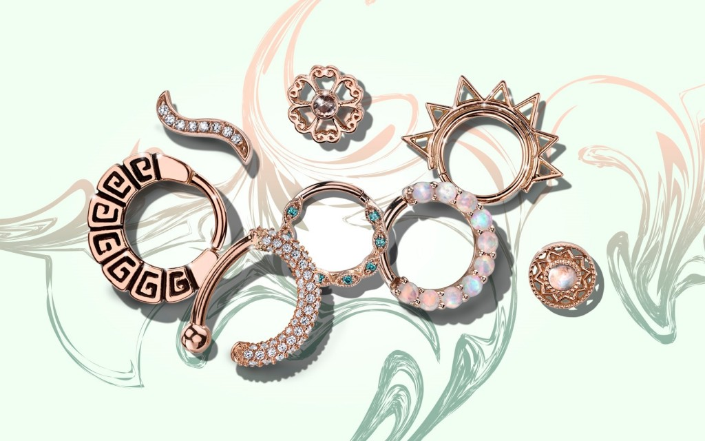 Gold Body Jewelry from Body Vision Los Angeles