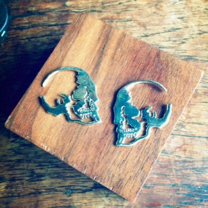 Skull Silhouette Earrings