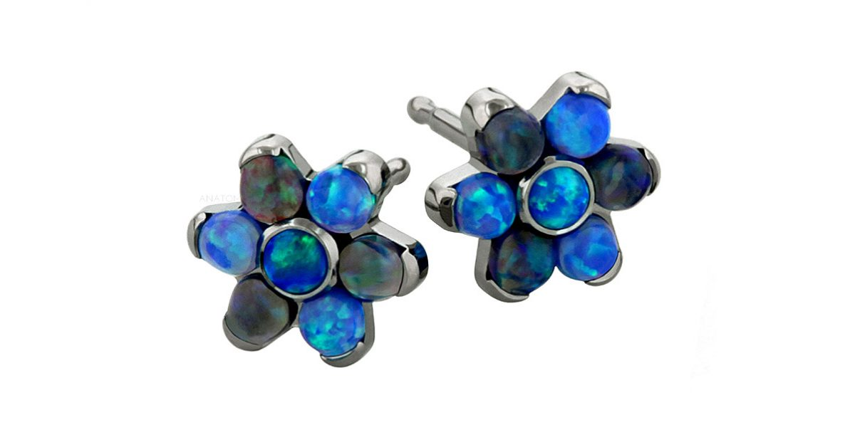 anatometal flower-earrings